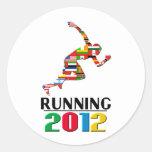 2012: Running Classic Round Sticker