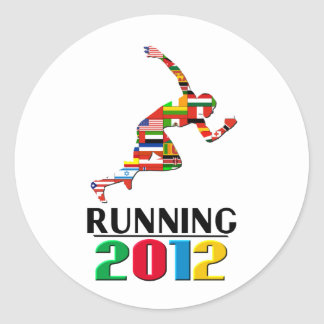 2012 Running Round Stickers