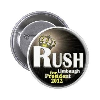 2012 Rush for President pin