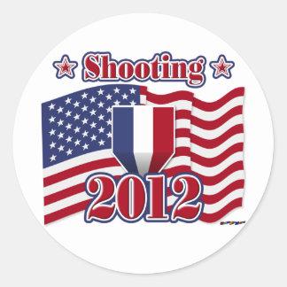 2012 Shooting Classic Round Sticker