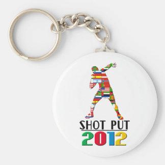 2012: Shot Put Basic Round Button Keychain