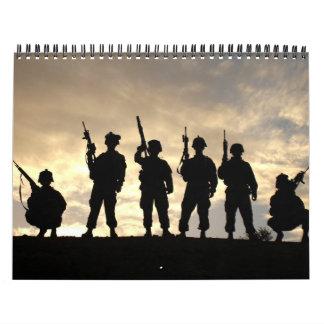 2012 siluetas militares calendario