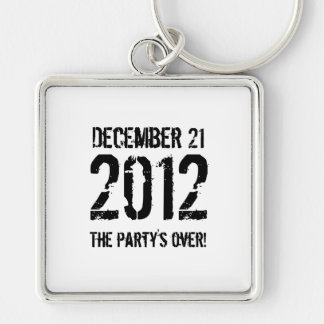 2012 Silver-Colored SQUARE KEYCHAIN