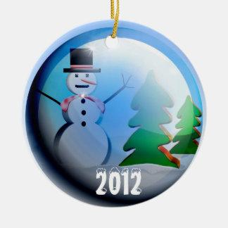 2012 Snow Globe Holiday Ornament