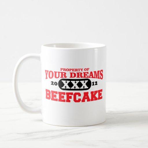 2012 solamente en su beefcake del equipo de sueños taza clásica