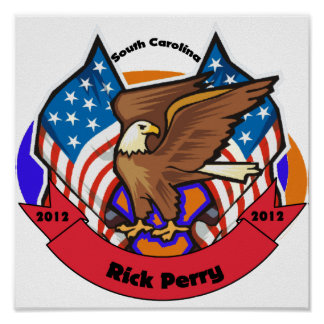 2012 South Carolina for Rick Perry Posters