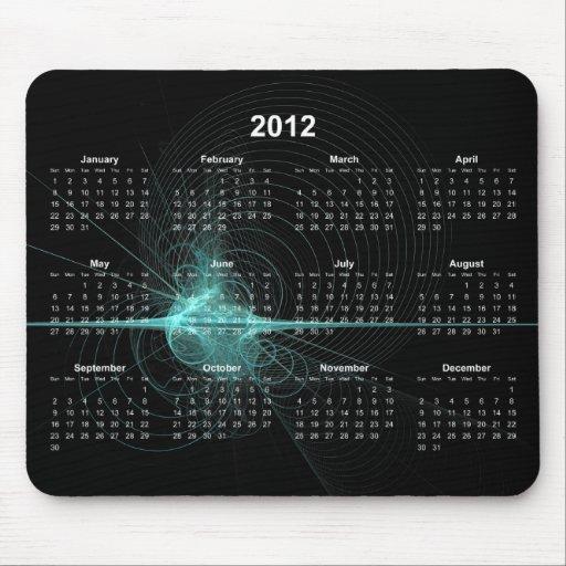 2012 Spirals Calendar Mousepad
