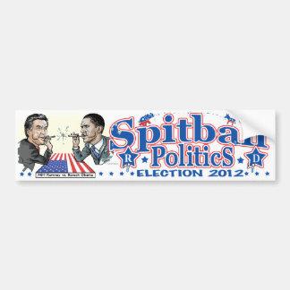2012 Spitball Politics Bumper Stickers