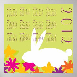 2012 Spring Bunny Hide 'N' Seek Calendar Print