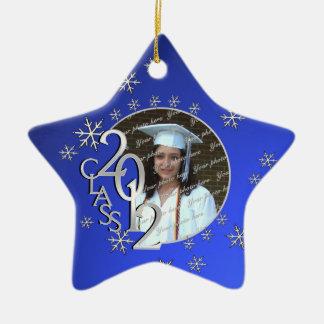 2012 Star Graduate Photo Ceramic Ornament