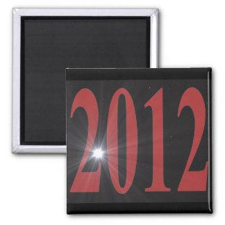 2012 Starburst 2 Inch Square Magnet