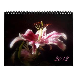 2012 Stargazer Lily Calender Calendar