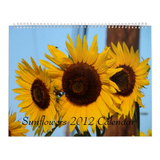 2012 Sunflower Calendar