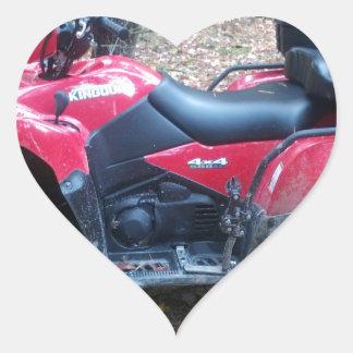 2012 Suzuki King Quad 500 Heart Sticker