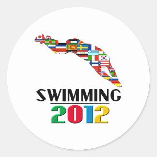 2012: Swimming Round Stickers