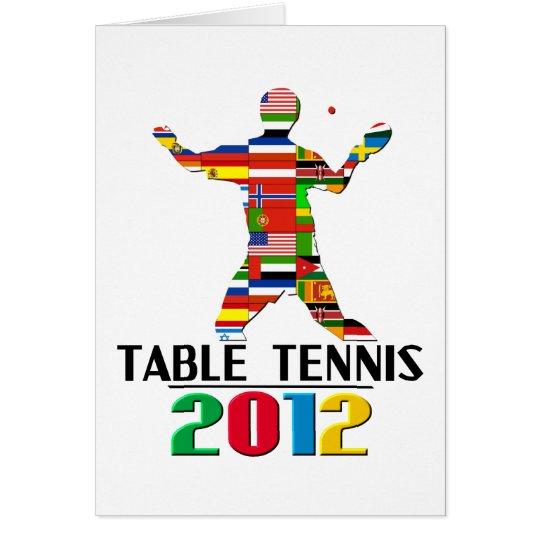 2012: Table Tennis Card