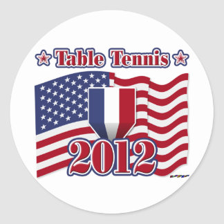 2012 Table Tennis Classic Round Sticker