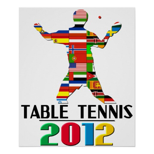 2012 table tennis posters zazzle for 10 rules of table tennis
