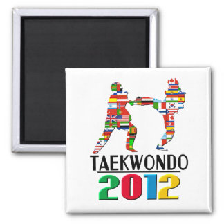 2012: Taekwondo 2 Inch Square Magnet
