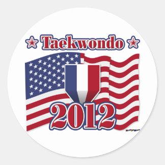 2012 Taekwondo Classic Round Sticker