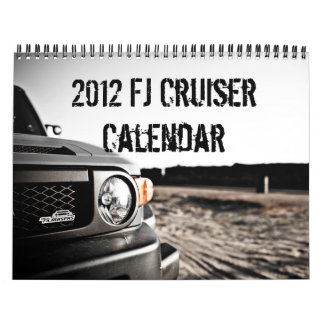 2012 tan calendarios del crucero de la caloría FJ