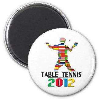 2012: Tenis de mesa Imán Redondo 5 Cm