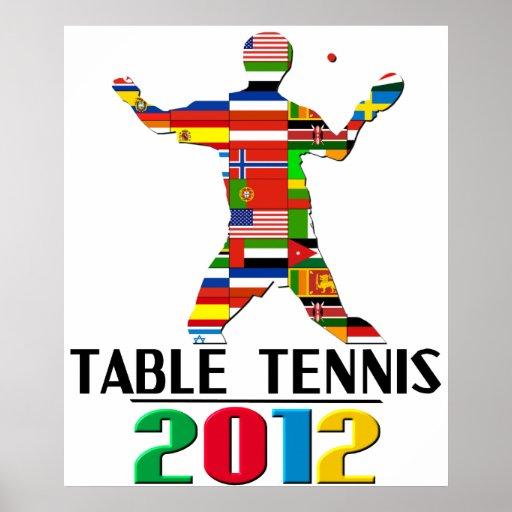 2012: Tenis de mesa Posters
