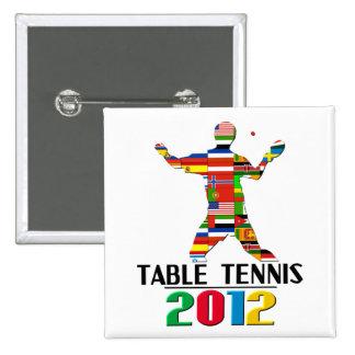 2012: Tenis de mesa Pin Cuadrada 5 Cm