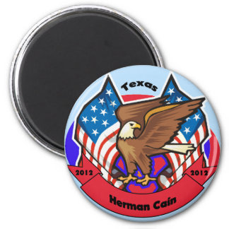 2012 Texas for Herman Cain 2 Inch Round Magnet