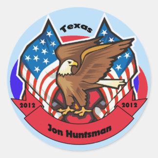 2012 Texas for Jon Huntsman Classic Round Sticker