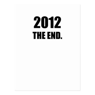 2012 - The End Postcard