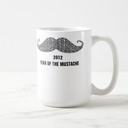 2012 The Year of Mustache Classic White Coffee Mug
