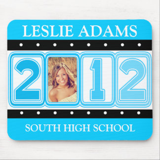 2012 TOTALLY TURQUOISE PHOTO GRADUATION MOUSE PAD