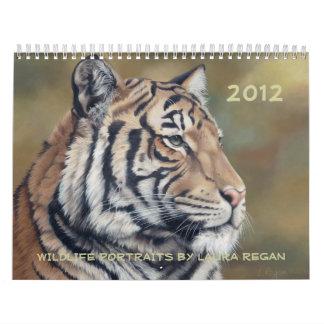 2012 Twelve Month Wildlife Art Calendar Wall Calendar