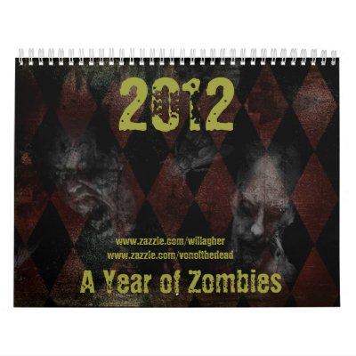 2012 un año de zombis calendario