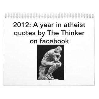 2012: Un año en citas del ateo del pensador Calendario De Pared