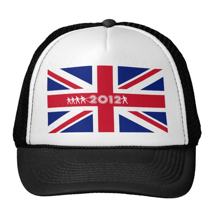 2012 Union Jack flag of Britain T-shirt Trucker Hat