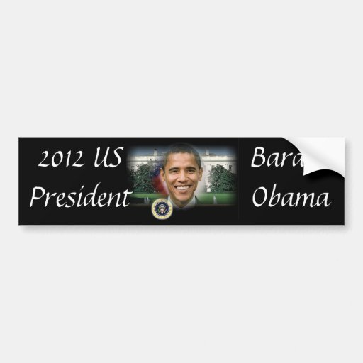2012 US President Barack Obama Bumper Sticker