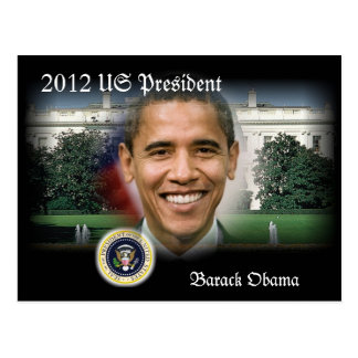 2012 US President Barack Obama re-Election Postcard