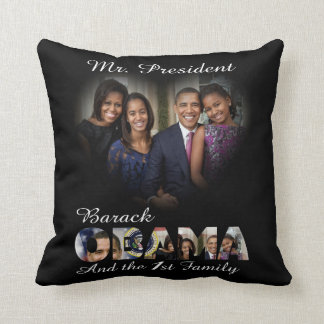 2012 US President Barack Obama re-Election Throw Pillow