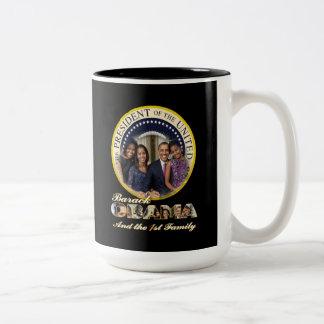2012 US President Barack Obama re-Election Two-Tone Coffee Mug