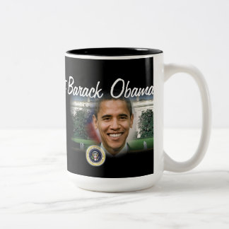 2012 US President Barack Obama Two-Tone Coffee Mug