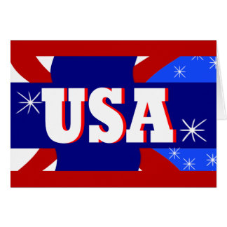 2012 USA Red White & Blue Customizable Art Card