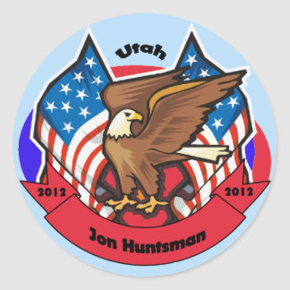 2012 Utah for Jon Huntsman Classic Round Sticker