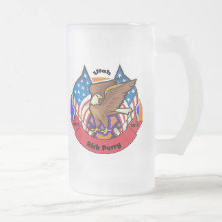 2012 Utah for Rick Perry Frosted Glass Beer Mug