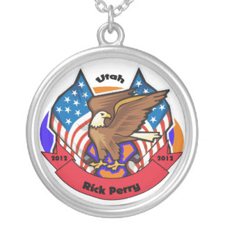 2012 Utah for Rick Perry Round Pendant Necklace