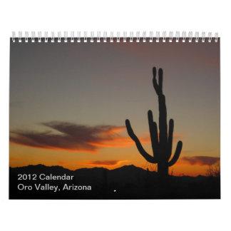 2012 valle de Oro, calendario de Arizona