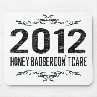 2012 Vintage Honey Badger Don t Care Mouse Pad
