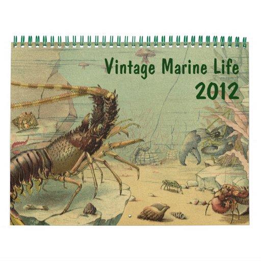 2012 Vintage Marine Life and Sea Creatures Wall Calendars