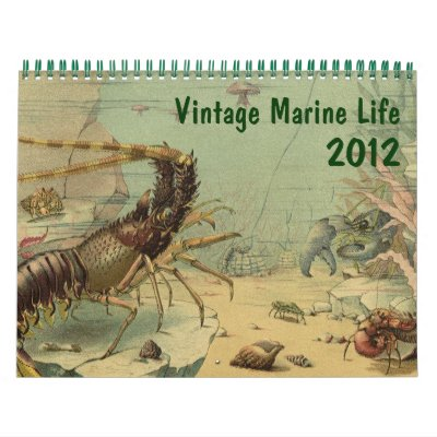 2012 Vintage Marine Life and Sea Creatures Wall Calendars